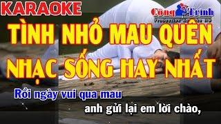 Karaoke Tình Nhỏ Mau Quên | Cha Cha Cha | Nhạc Sống Hay Nhất 2017 | Keyboard Kiều Sil