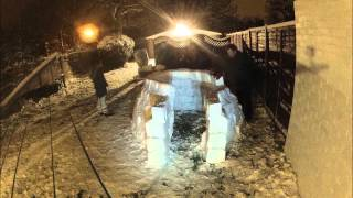 Building A Igloo Time Lapse