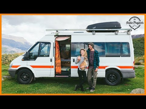 Van Conversion on a Budget with a Wood Burner! - Van Tour