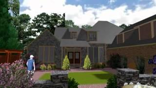 Lake Lanier Home Landscape Design Parking And Courtyard