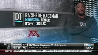 Gophers' Ra'shede Hageman Selected By Atlanta Falcons In 2014 Nfl Draft