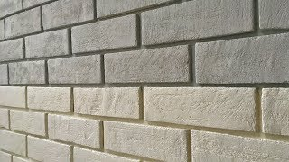 Imitation of decorative bricks - the easiest way