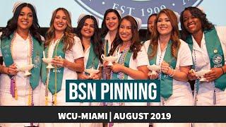 WCU-Miami BSN Pinning: August 2019