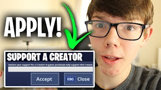 How To Get A Suṗport A Creator Code For Fortnite (Full Guide) | Fortnite Support A Creator