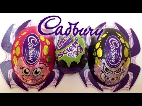 Halloween Cadbury Chocolate Halloween Spider Cadbury Eggs Surprise Eggs Cadbury Creme Egg