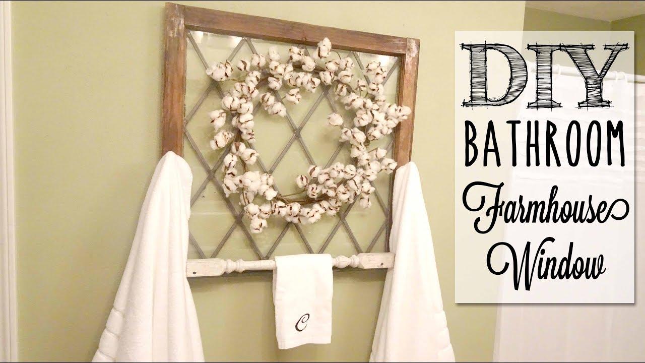 Diy Farmhouse Window Towel Rack Youtube