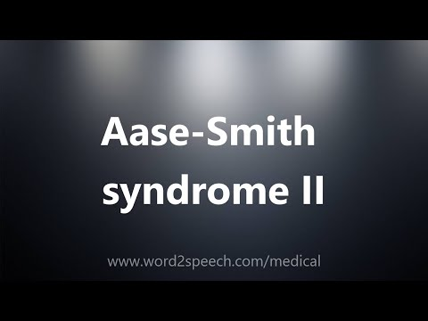 Aase-Smith syndrome II - Medical Definition