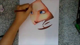 Drawing princess Merida - Brave