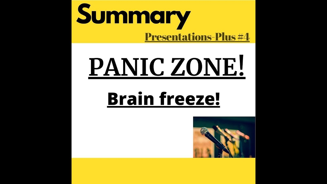 PANIC Zone or PANIC Mode - when your brain freezes