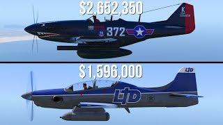 GTA 5 - P-45 Nokota Vs Rogue ($2,652,350 Vs $1,596,000)