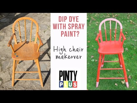 DIY Painted furniture - High chair makeover using Pinty Plus Evolution