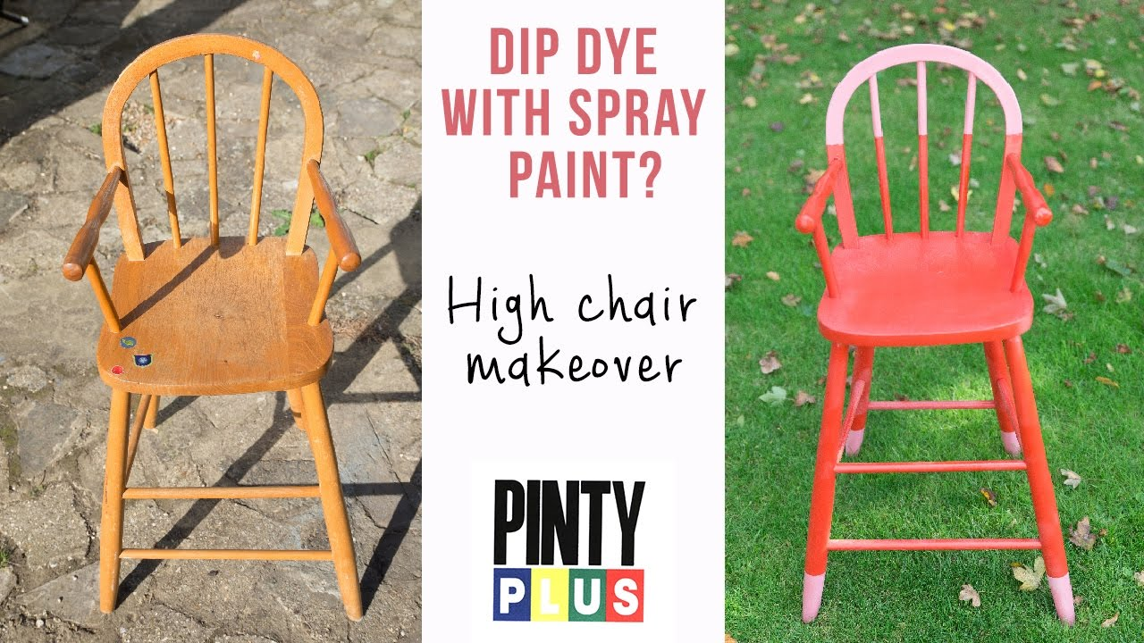 diy painted windsor chairs boat for sale furniture high chair makeover using pinty plus evolution