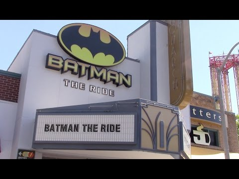 Batman: The Ride Review Six Flags Fiesta Texas S&S 4D Free Spin