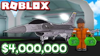Buying the NEW $4,000,000 WARHAWK FIGHTER JET IN ROBLOX MAD CITY + NEW TOP SECRET MISSION!!