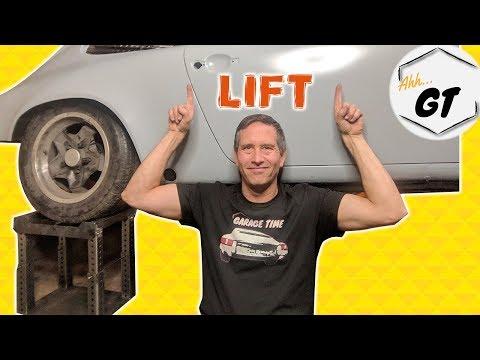 DIY Tire Stands Lift my Porsche Project Up a Notch