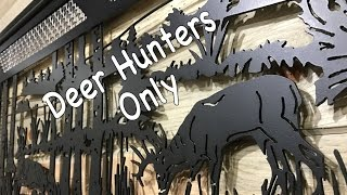 CNC PLASMA METAL ART // Wildlife Scene - Deer Turkey Wall Decor- Dallas, TX 75201