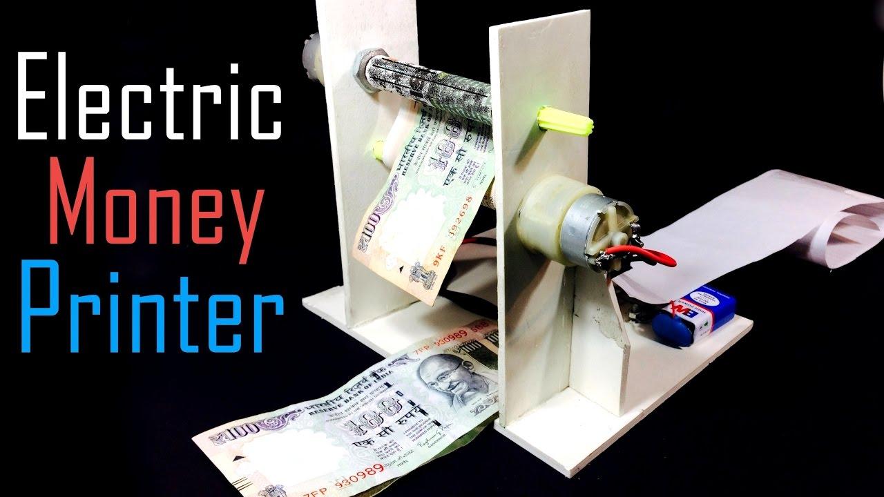 How to Make an Electric MONEY PRINTER Machine | Magic ...