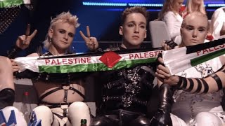 Hatari Palestine flags taken by Eurovision Song festival Israel