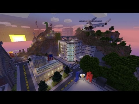 Minecraft Xbox - Exploring The City - SPANKLECHANK's World T