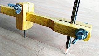Make A Beam Compass || Homemade Compass Tool..