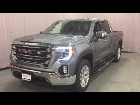 2019 GMC Sierra 1500 SLT Multi Pro Tailgate Navigation Sunroof Steel Oshawa ON Stock #1902189