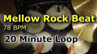 20 Minute Backing Track - Mellow Groove Rock Drum Beat 78 BPM screenshot 1