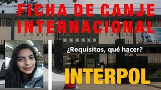 ¿Cómo sacar la ficha de Canje Internacional de INTERPOL?