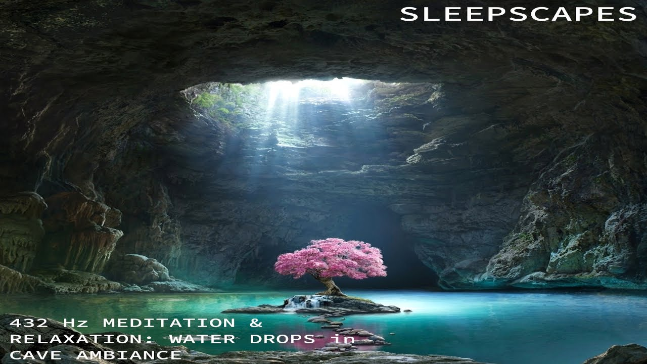 432 Hz Meditation & Relaxation Music: Water Drops in Cave Ambiance 10 Hours