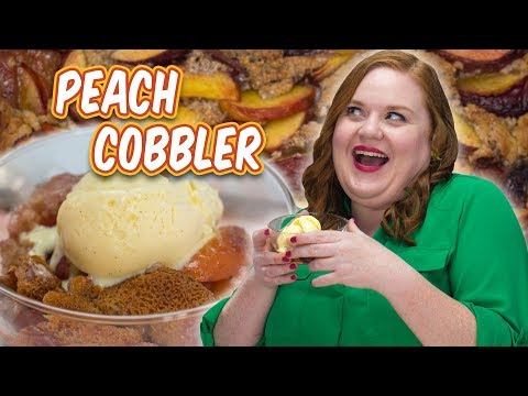 Elise Stirs The Love Into Peach Cobbler And Buttermilk Ice Cream | Smart Cookie | Allrecipes.com