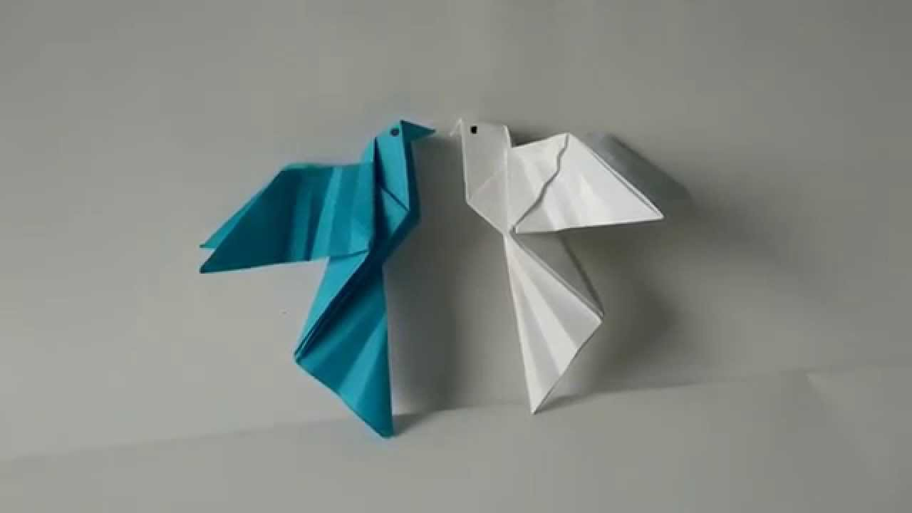 Origami Birds - How to fold an Origami Dove step-by-step ... - photo#10