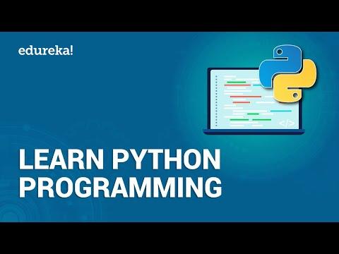 Learn Python Programming for Beginners | Python Programming | Python Tutorial | Edureka