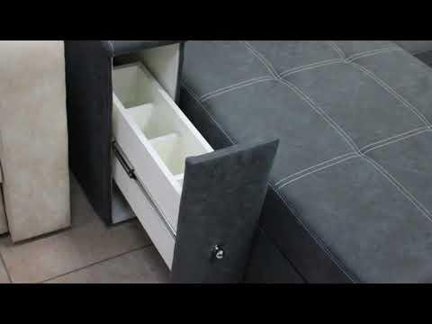 Диван-трансформер ФАБИО с оттоманкой. Выкатной механизм трансформации.( фабрика мебели PODUSHE)