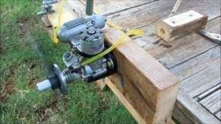 OS Max-H 40 Nitro Engine Running