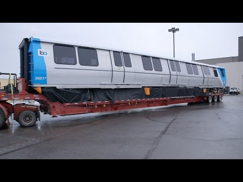 First Fleet of the Future Train Car Heads West