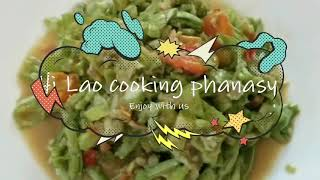 How to cook long beans salad Lao food ຕຳໝາກຖົ່ວ