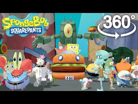 Spongebob Squarepants! - 360 Adventure Video! - (The First 3D VR Game Experience!)