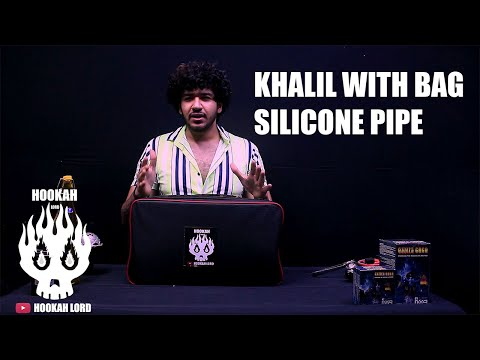 CHEAP HOOKAH DELHI | GOLDEN KHALIL WITH BAG | WHOLESALE HOOKAH SHOP DELHI INDIA 8010666601