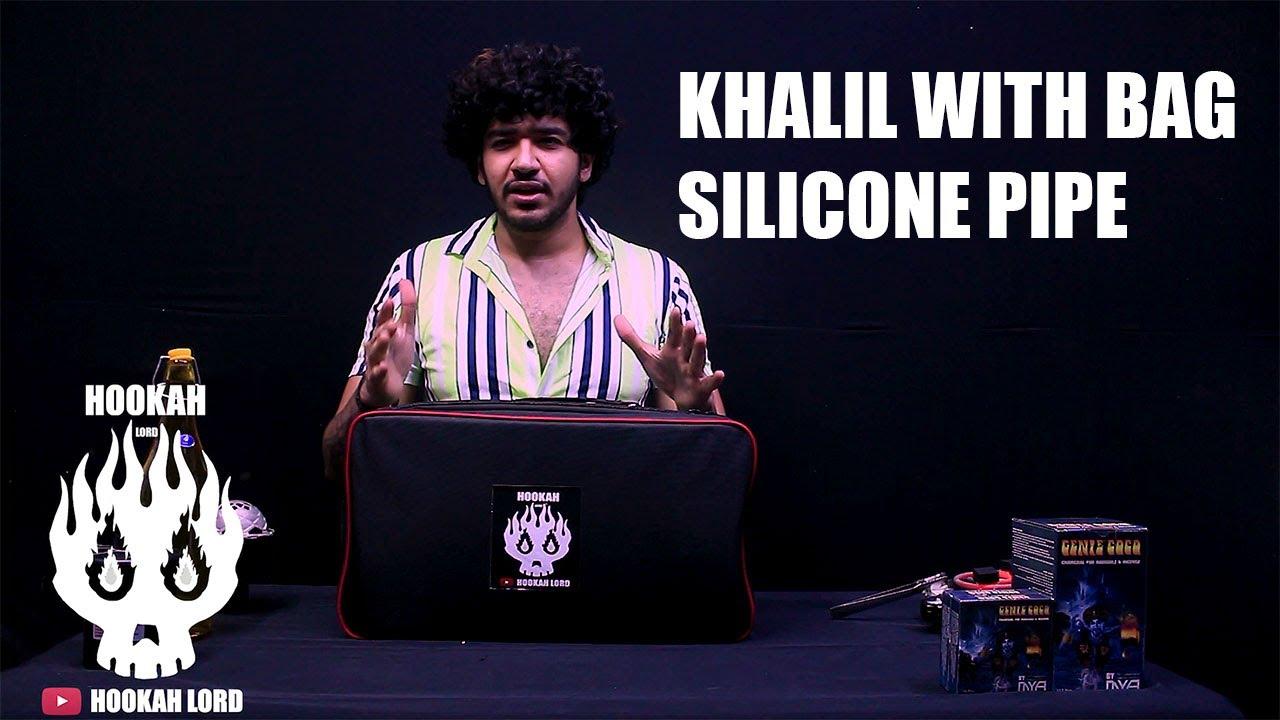 CHEAP HOOKAH DELHI | GOLDEN KHALIL WITH BAG | WHOLESALE HOOKAH SHOP DELHI INDIA 8010666601