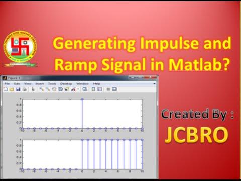 Generate impulse and step signals in matlab