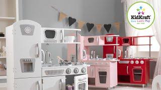 Kidkraft Retro Küche | Kinderspielküche weiss rosa rot Top Qualität | Dreams4Kids