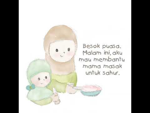 Gratis Download Buku Anak Islam Sahur Pertamaku Printable Ramadhan Untuk Balita Muslim Paud Tk Sd Youtube