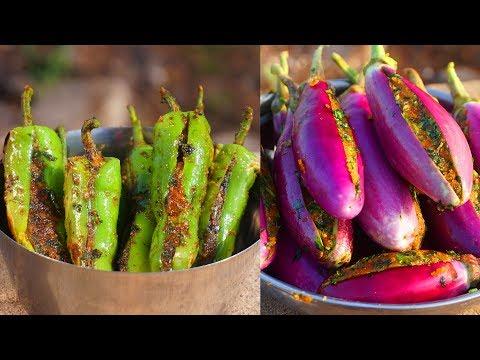 ભરેલા રીંગણ અને મરચા નિકુંજ વસોયા દ્વારા  | Bharela Ringan Nu Shaak | Gujarati Cooking