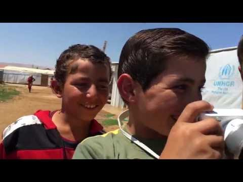 A Young Syrian Refugee in Lebanon Experiences a Moment of Joy