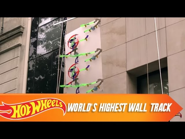 Hot Wheels Builds Worlds Highest Wall Track Autoblog