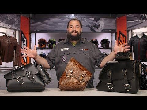 La Rosa Black Canvas Eliminator Harley Chopper Bobber Left Saddle Bag
