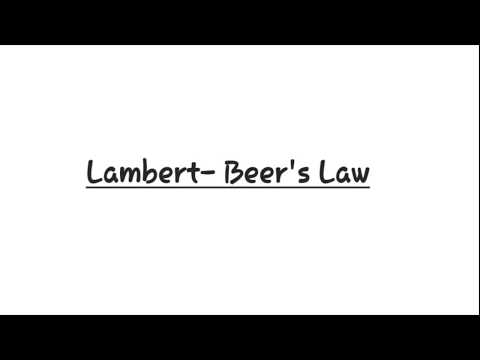 Lambert-Beer's law / Beer - Lambert's law