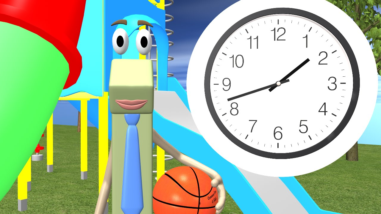 small resolution of Telling Time to the Half Hour - 1st Grade - YouTube