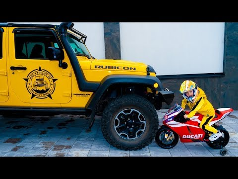 Джип-ВЕЗДЕХОД...Jeep All-terrain Vehicle. Little Motorcycle VS Big JEEP.