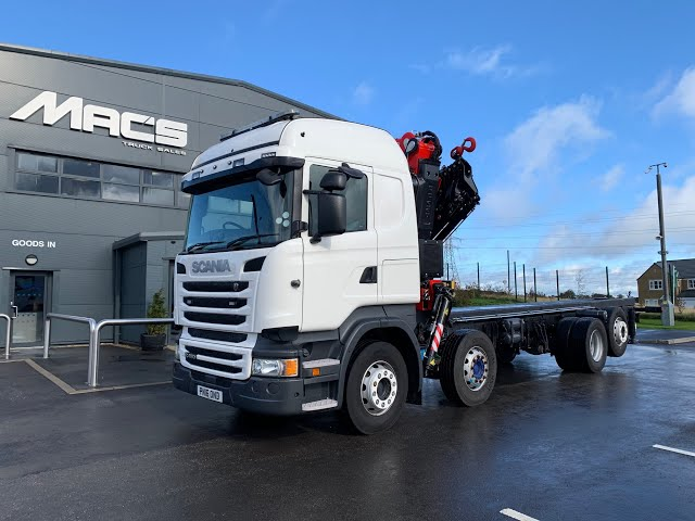 Scania (2016) R450 8 x 2 F545RA2.25 Crane Mounted to Body of Your Choice