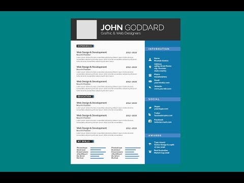 6 CV Templates Free To Download In Microsoft Word And PSD Format